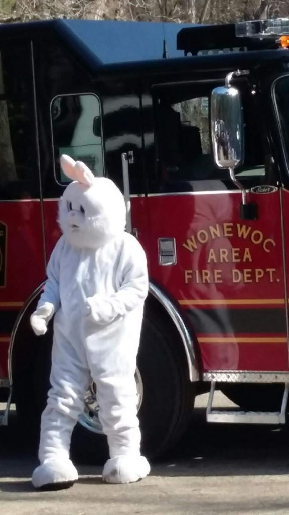 Easter Bunny arrives